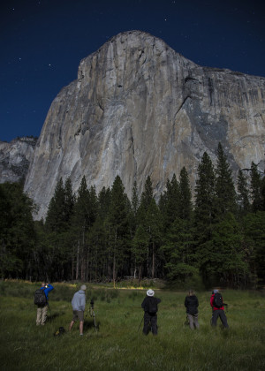 El Cap at Night group