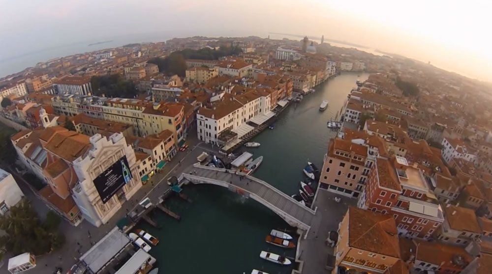 italy photographed by air