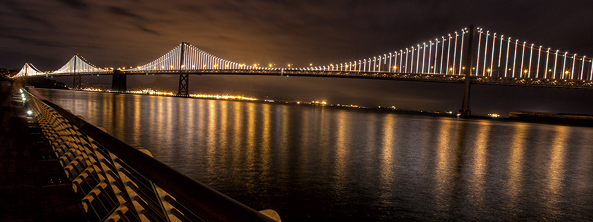 pier 14 bay bridge night photography